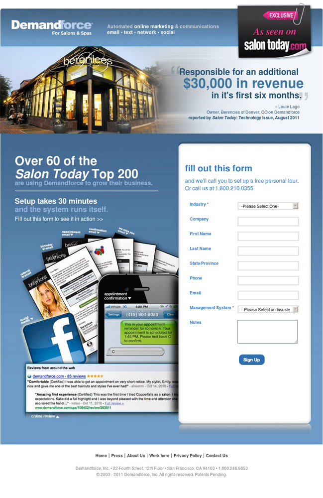 Landing Page Design Examples | Landing Page Conversion Course ...