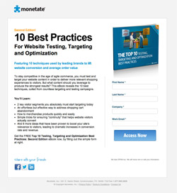 Landing Page Example - Monetate Ebook Download