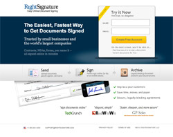 Landing Page Example - Right Signature